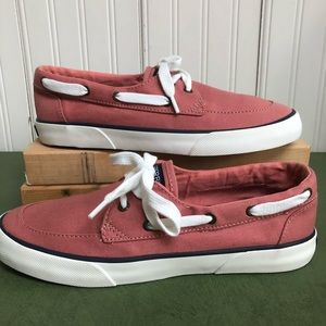 Sperry Top Sider Canvas Pier Boat Shoes NWOT